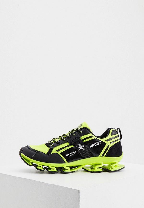 женские низкие кроссовки plein sport, зеленые