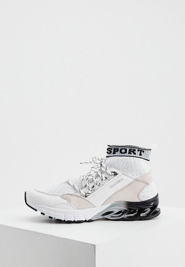 женские высокие кроссовки plein sport, бежевые