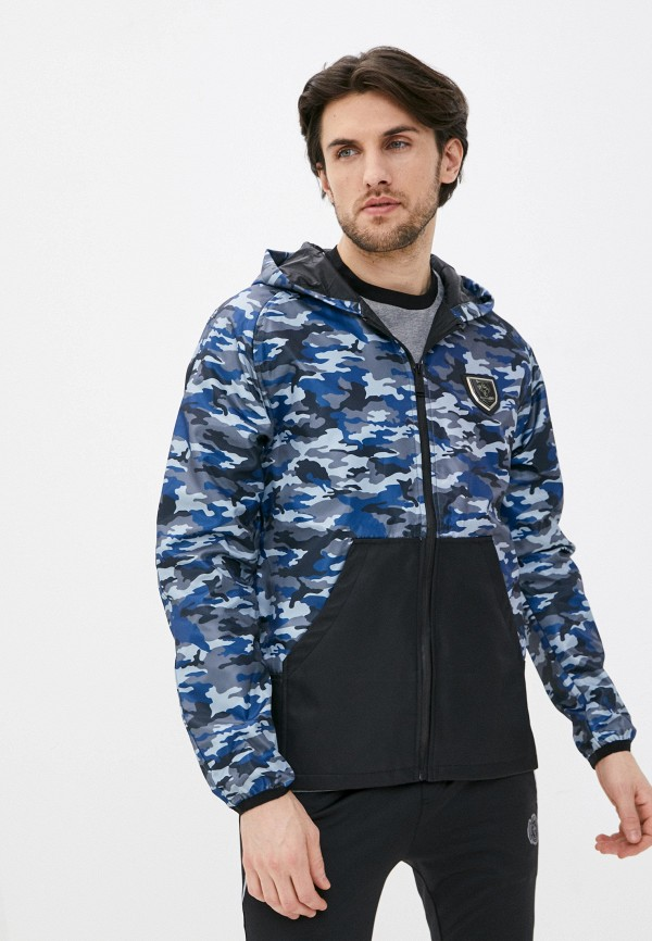 мужская легкие куртка plein sport, синяя