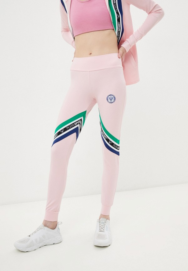 женские спортивные брюки plein sport, розовые
