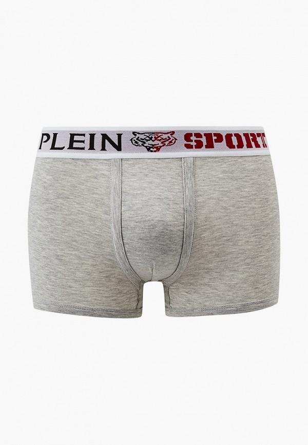 мужские трусы-боксеры plein sport, серые