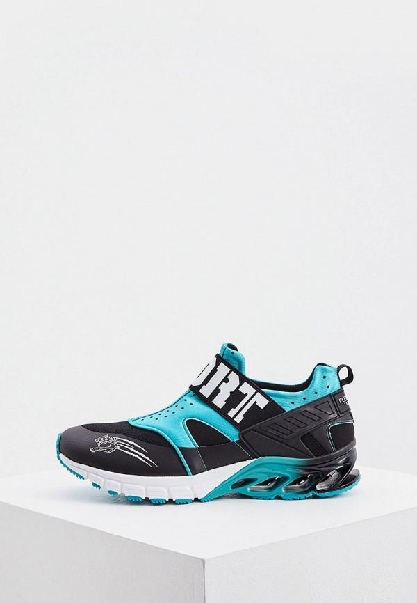 женские низкие кроссовки plein sport, черные