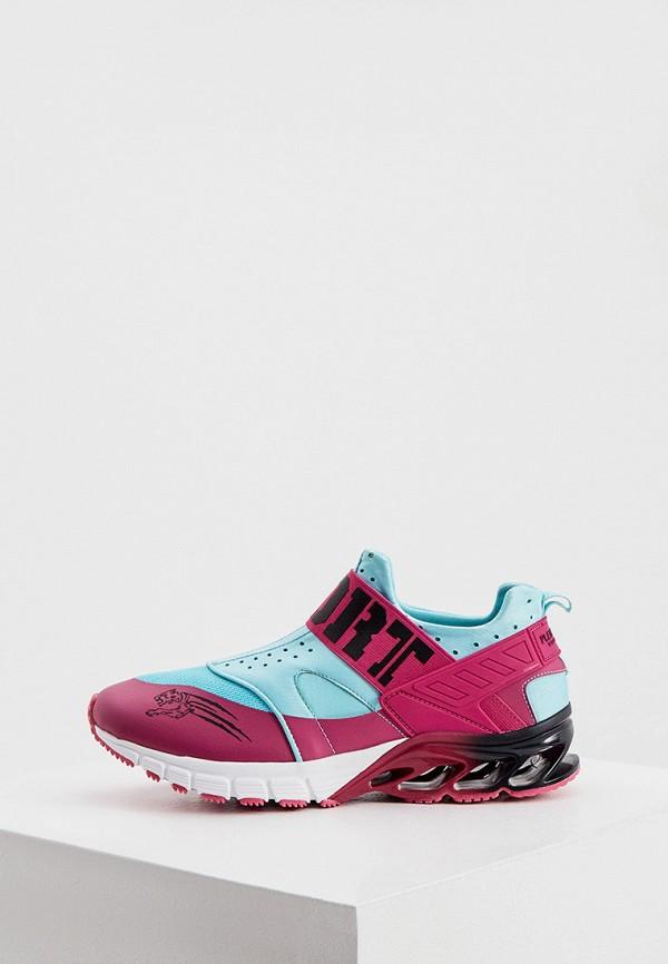 женские низкие кроссовки plein sport, бирюзовые