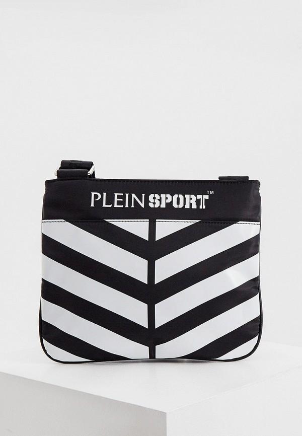 мужская сумка plein sport, черная