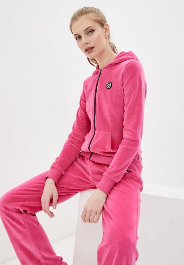 женская толстовка plein sport, розовая