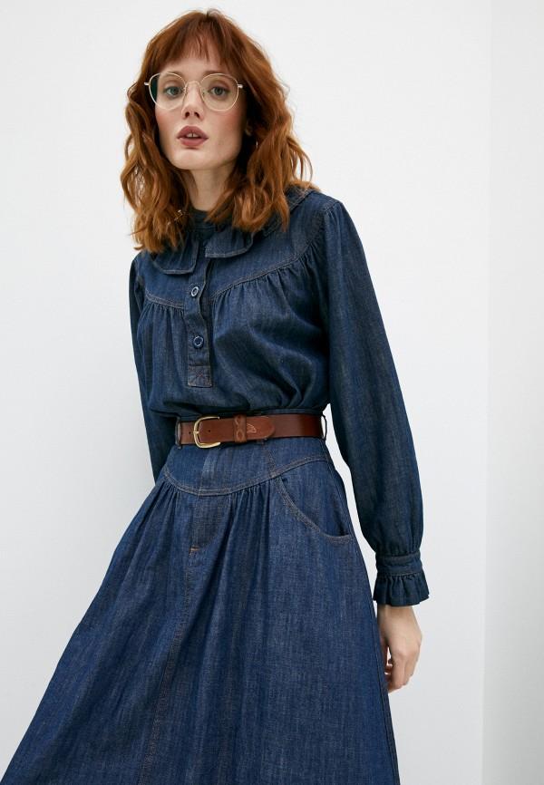 женская блузка see by chloe, синяя