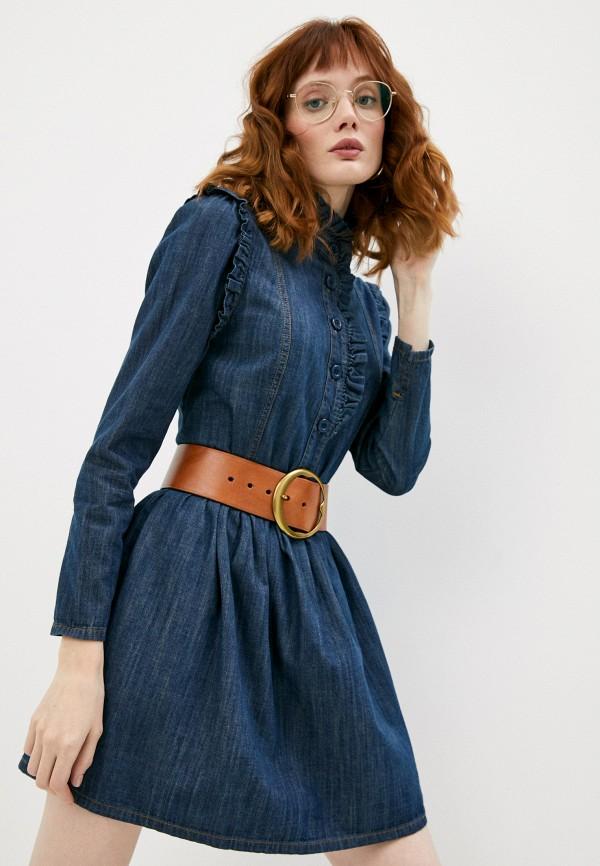 женское джинсовые платье see by chloe, синее