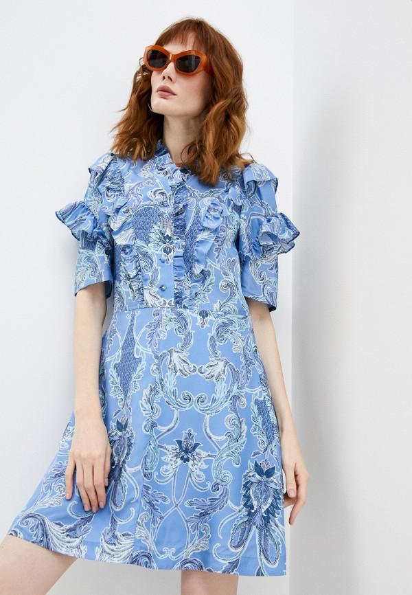 женское повседневные платье see by chloe, голубое