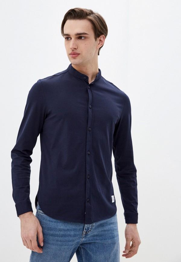 мужская рубашка с длинным рукавом marc o'polo denim, синяя