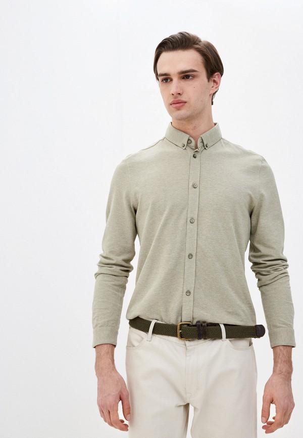 мужская рубашка с длинным рукавом marc o'polo denim, зеленая