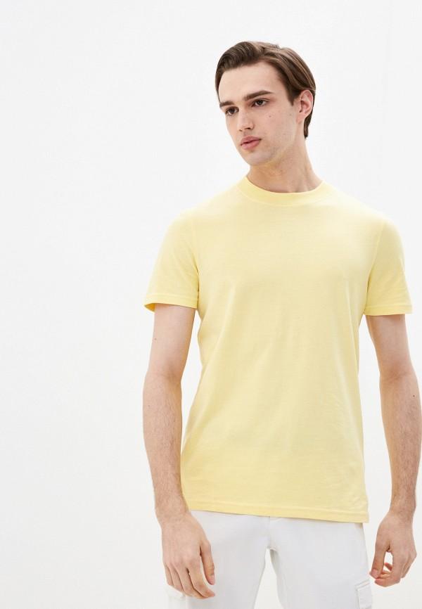 мужская футболка с коротким рукавом marc o'polo denim, желтая