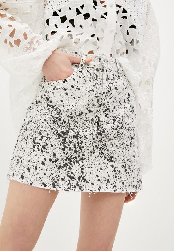 женская прямые юбка the kooples, белая