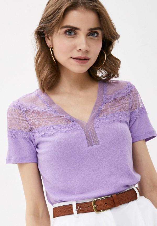 женская футболка morgan, фиолетовая