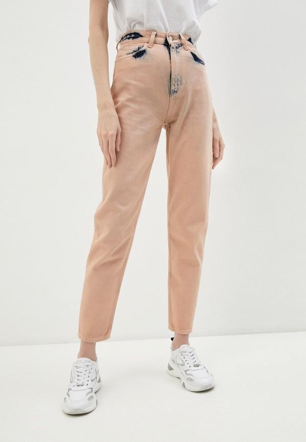 женские повседневные брюки emporio armani, розовые