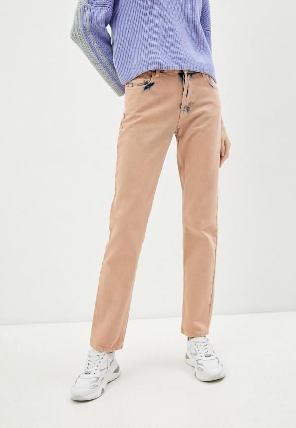 женские повседневные брюки emporio armani, оранжевые