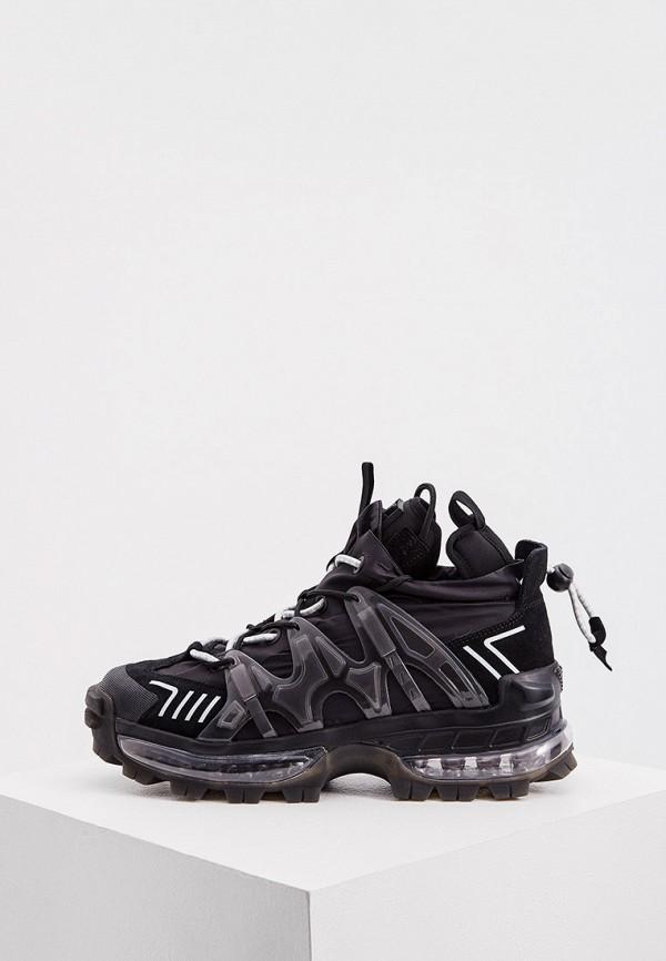 мужские высокие кроссовки emporio armani, черные