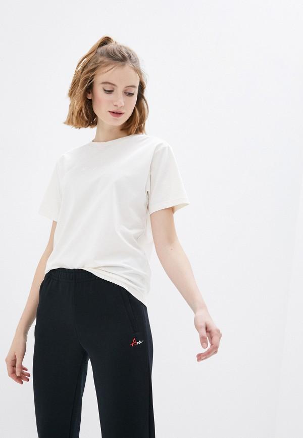 женская спортивные футболка anta, бежевая