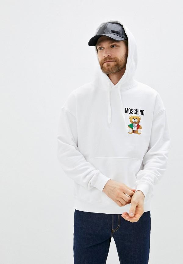 мужские худи moschino couture, белые