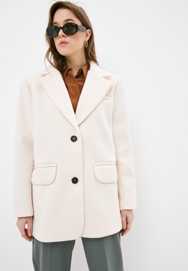 женское пальто diverius, бежевое