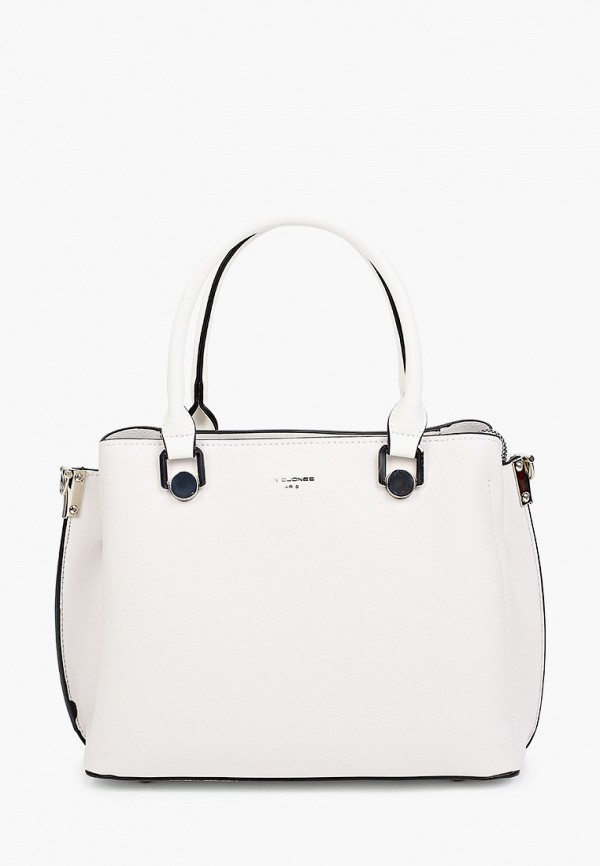 женская сумка с ручками david jones, белая