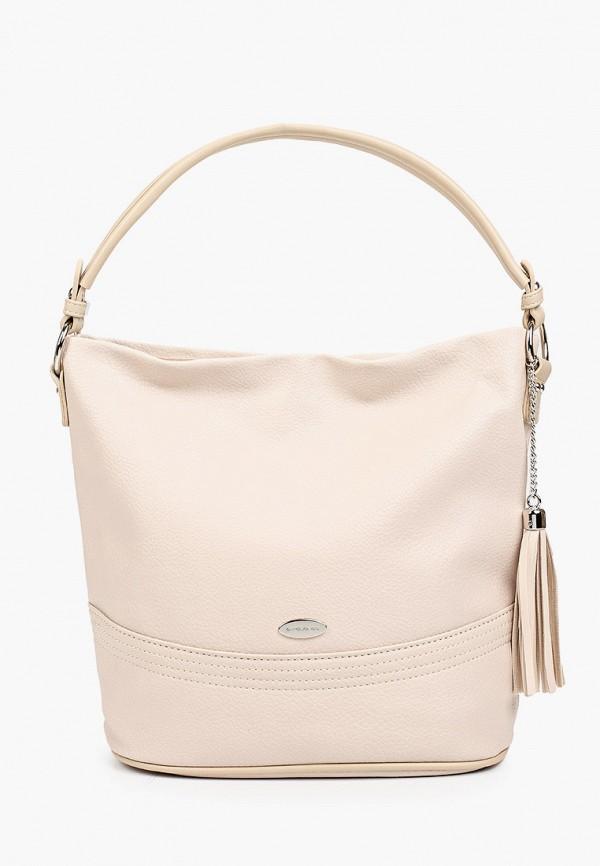 женская сумка david jones, бежевая