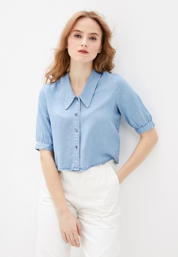 женская джинсовые рубашка pimkie, голубая