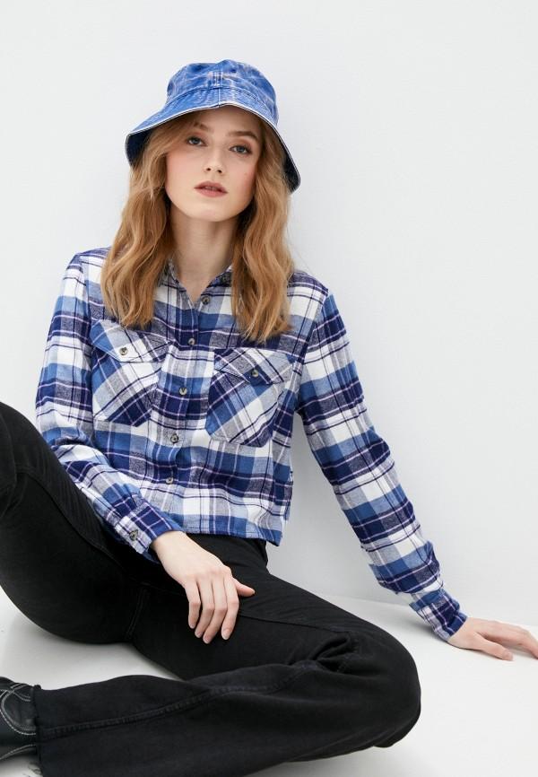 женская рубашка с длинным рукавом pimkie, синяя