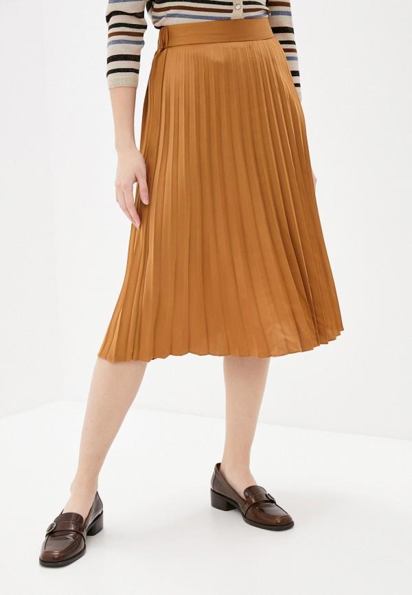 женская плиссированные юбка pimkie, коричневая