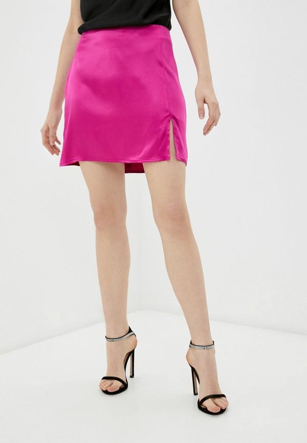 женская прямые юбка pimkie, розовая