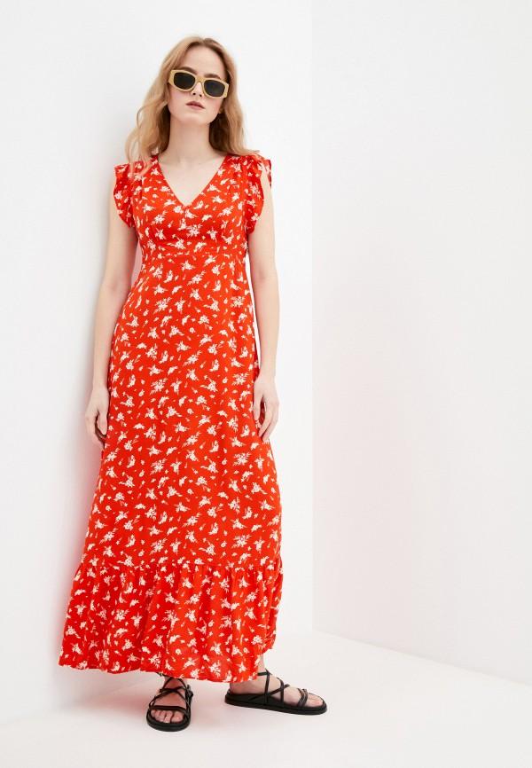 женское повседневные платье pimkie, красное