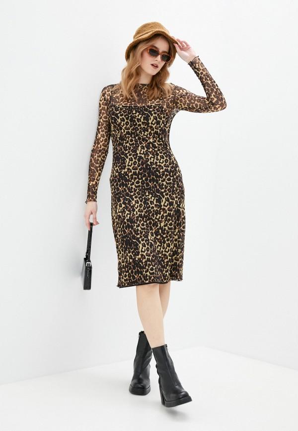 женское повседневные платье pimkie, коричневое