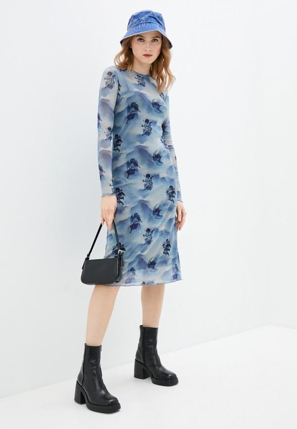женское повседневные платье pimkie, голубое
