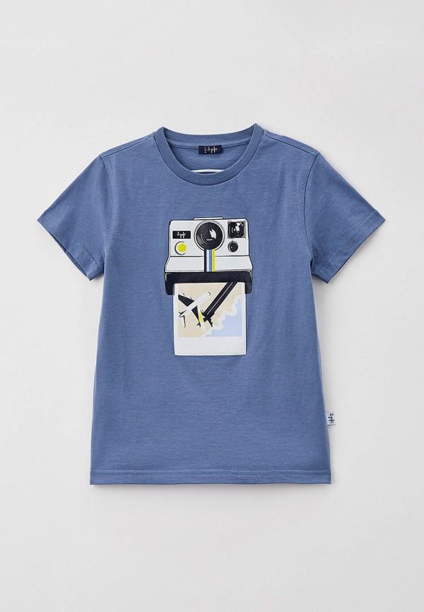 футболка с коротким рукавом il gufo для мальчика, синяя