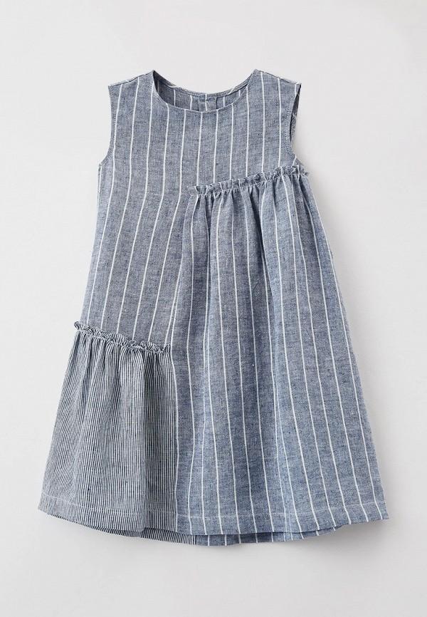 повседневные платье il gufo для девочки, голубое
