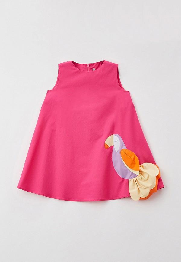 повседневные платье il gufo для девочки, розовое