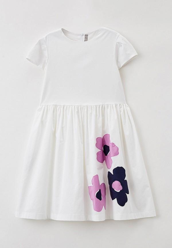 повседневные платье il gufo для девочки, белое