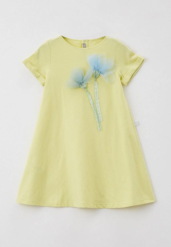 повседневные платье il gufo для девочки, желтое