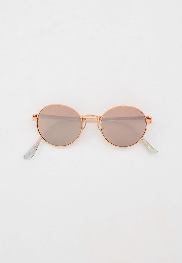 женские круглые солнцезащитные очки rubi, золотые