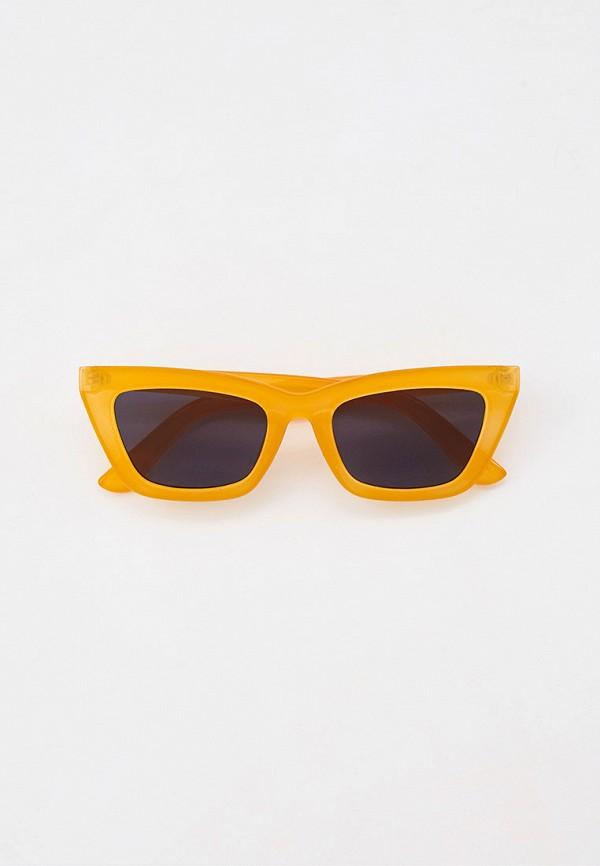 женские солнцезащитные очки кошачьи глаза rubi, оранжевые