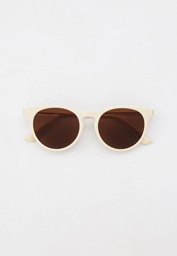 женские круглые солнцезащитные очки rubi, бежевые