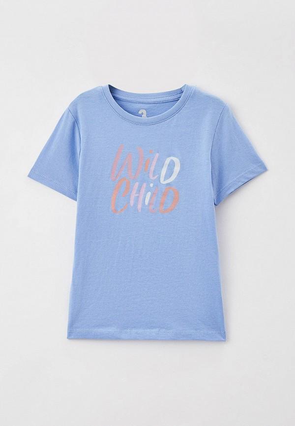 футболка с коротким рукавом cotton on для девочки, голубая