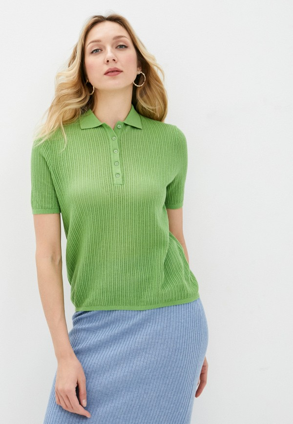 женское поло rodier, зеленое
