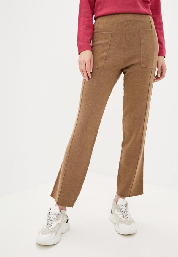 женские повседневные брюки rodier, коричневые