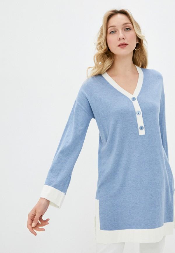 женское платье rodier, голубое