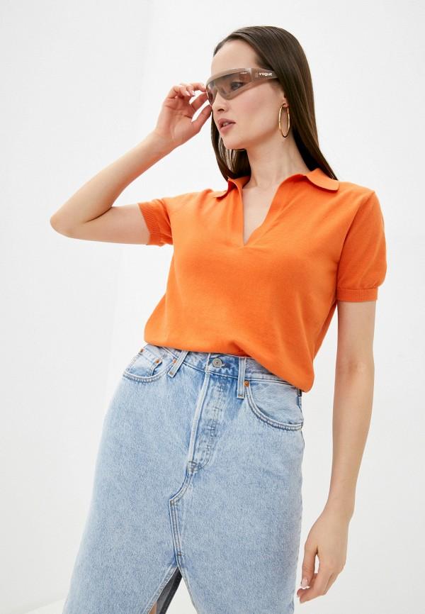 женский пуловер rodier, оранжевый