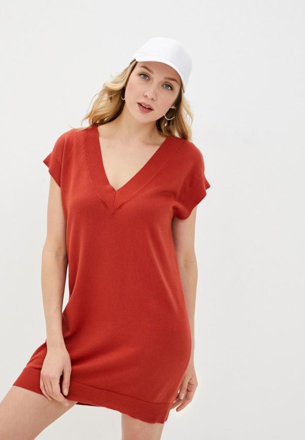 женское платье rodier, красное