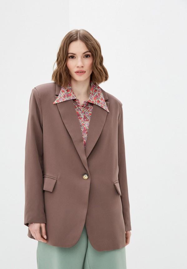 женский пиджак elsi, коричневый