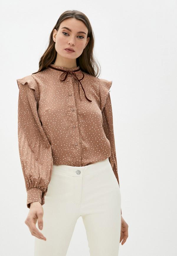 женская блузка elsi, коричневая