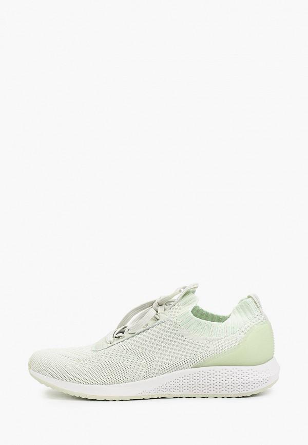 женские низкие кроссовки tamaris fashletics, зеленые