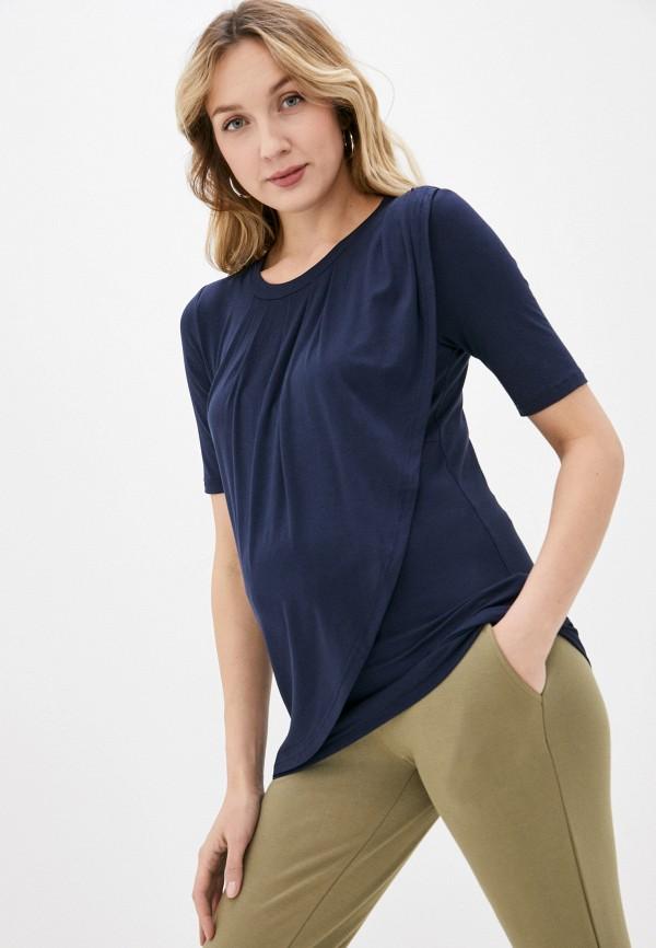 женская футболка mamalicious, синяя